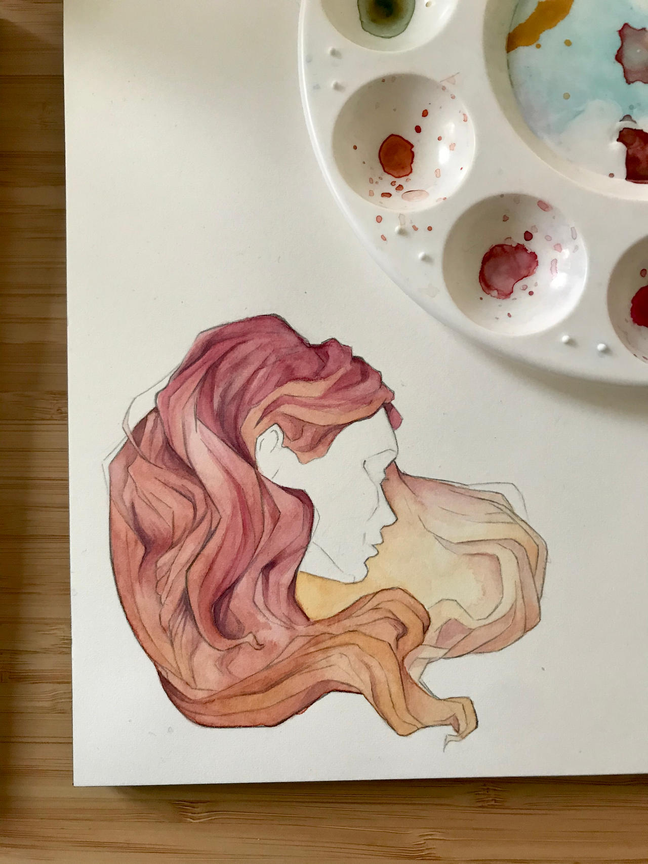 Hair Colour Study - Pink to Golden