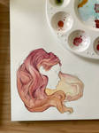 Hair Colour Study - Pink to Golden by AmberSchwarz
