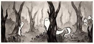 Timid Ghosts - Spirit Day 6 Inktober 2021