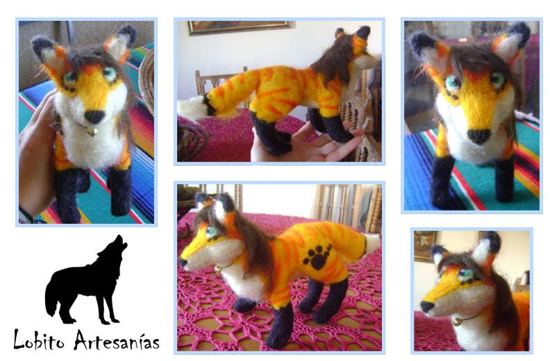 Needle felting commission by HowlingWolfSong