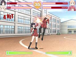 Hanabira Fake Fighting Game Screenshot by Zero-Q