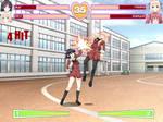 Hanabira Fake Fighting Game Screenshot