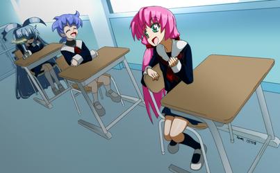 Commission - Yuri, Akira and Mia by Zero-Q