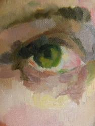 .:Smudged:. close up of eye by Fergalamalu