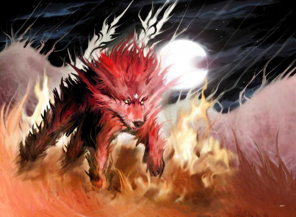 Scarlet Fire Wolf by The-RBT-Designer