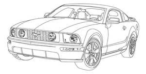 06 Mustang Line Art