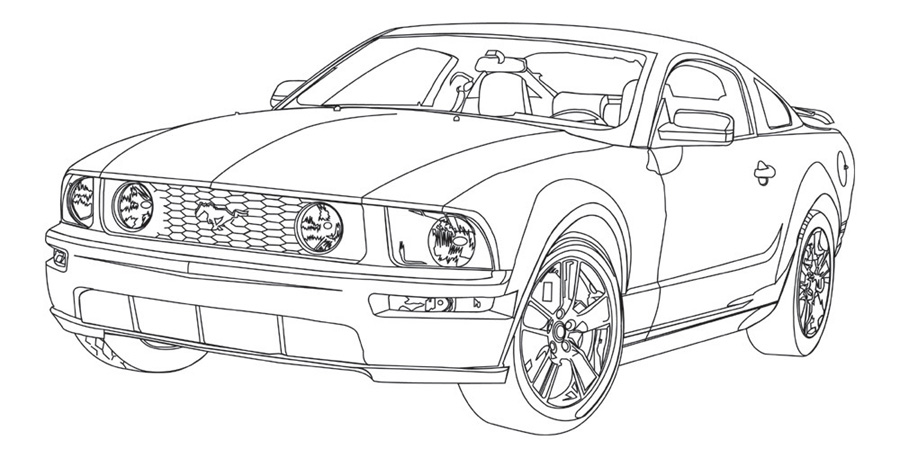 06 Mustang Line Art by Excalibur14 on DeviantArt