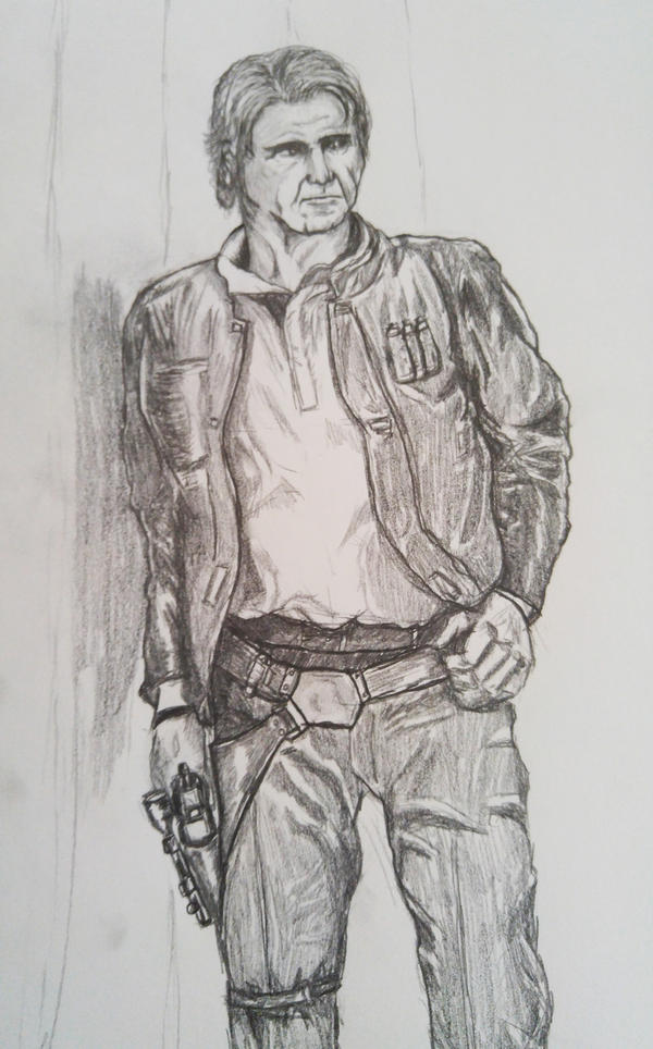 Han Solo - The Force Awakens sketch by Excalibur14