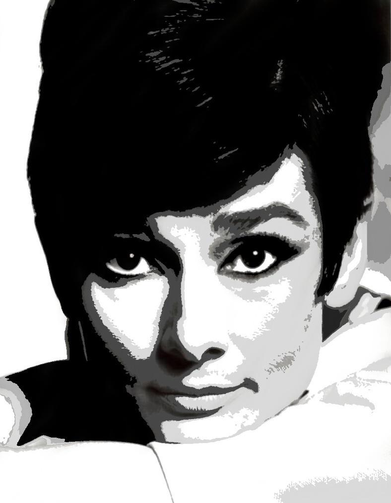 Audrey Hepburn - Vectored 4 by