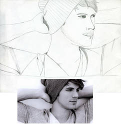 Cute Boy Sketch with Reference Picture