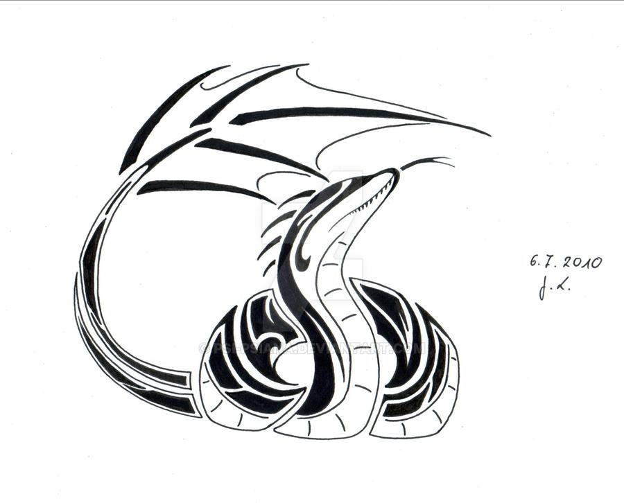 snake dragon tribal by psipsiana on deviantart