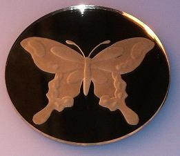 Butterfly mirror magnet by Cassandra-Rising