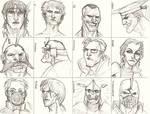 CHARACTER STUIDES -FACES