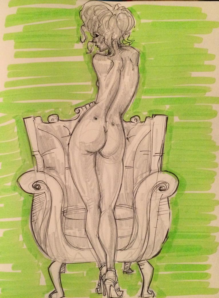 Green highlighter by guece