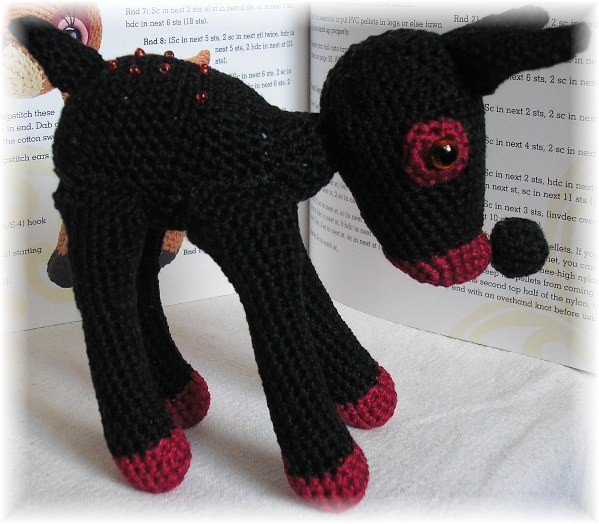 "Amigurumi-Deer ""Black Beauty"" by Grey-Wolf-86"