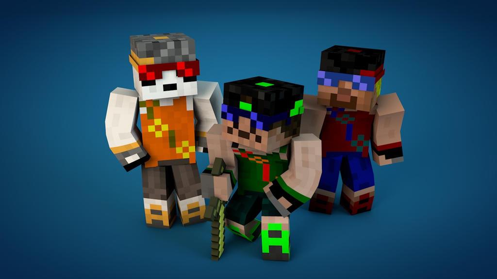 Minecraft Robot Panda Skin Gambleh 3