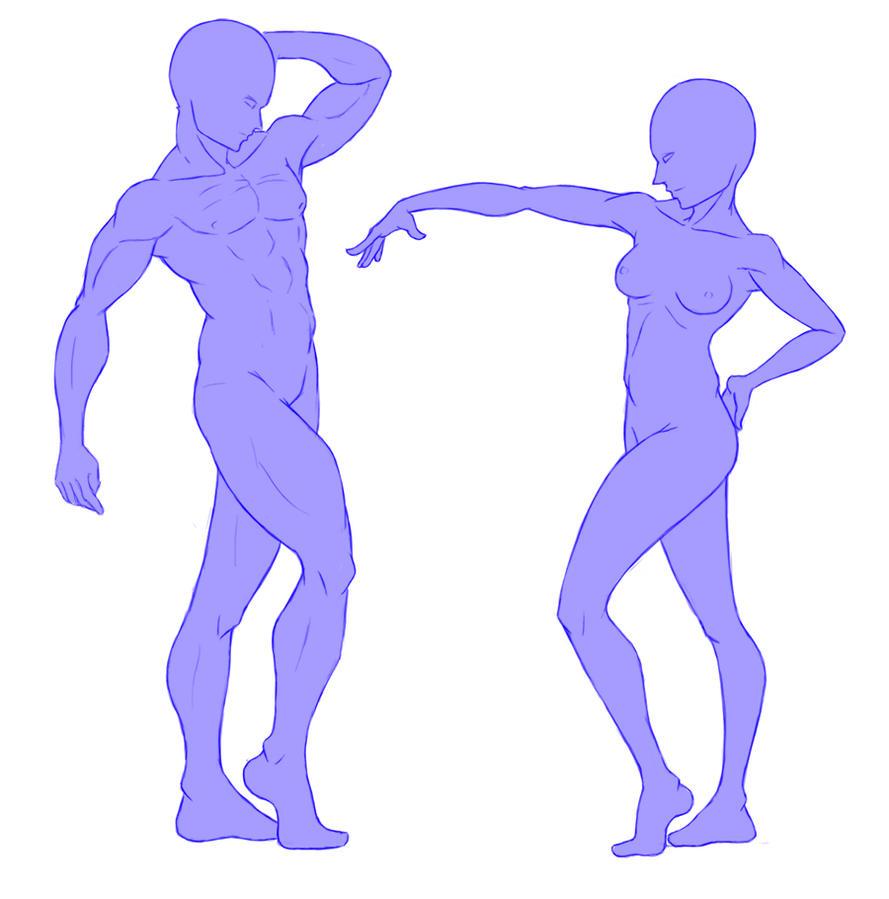 Male and Female Anatomy practice by zarrock18 on DeviantArt