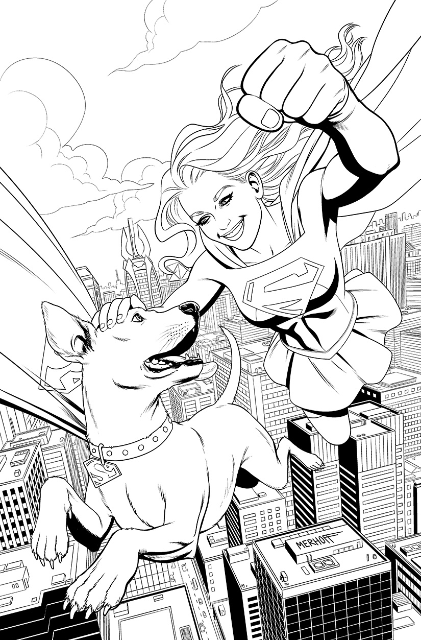 Supergirl and Krypto