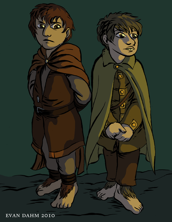 LOTR: Merry and Pippin by devilevn