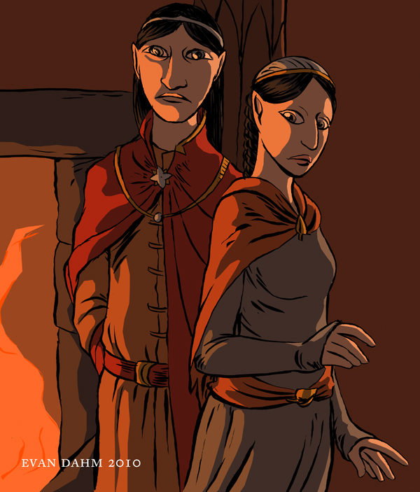 LOTR: Elrond and Arwen by devilevn