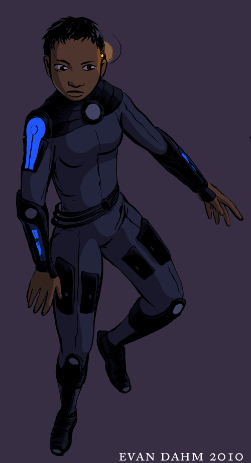Space girl again by devilevn