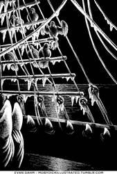Inscrutable Sea-Ravens by devilevn