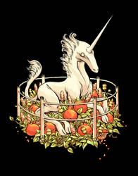 Unicorn in Captivity by devilevn
