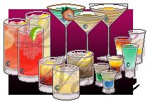 Pixelated Alcoholic Drinks by Belvayne