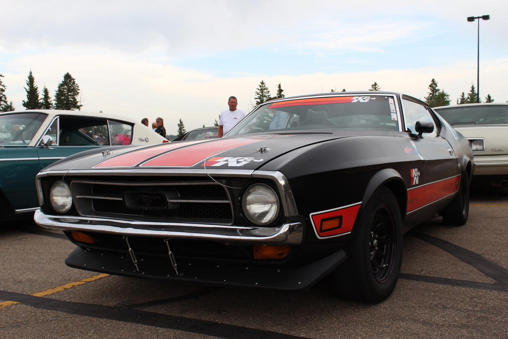Satin Black Mustang by KyleAndTheClassics