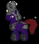 Kaizoku the samurai pegasus pony