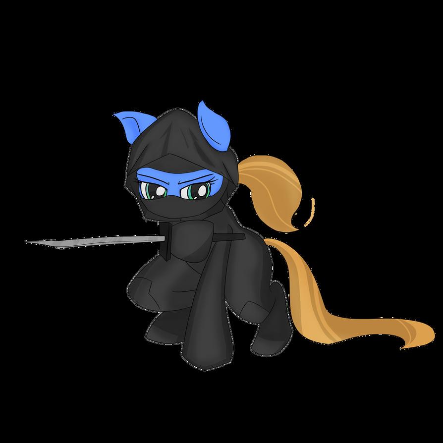 Ninjagirl pony by lookup4napkins