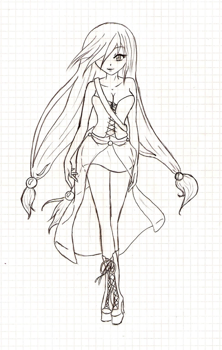 vampire girl outlines by kilya samma - Anime Vampire Girl Coloring Pages
