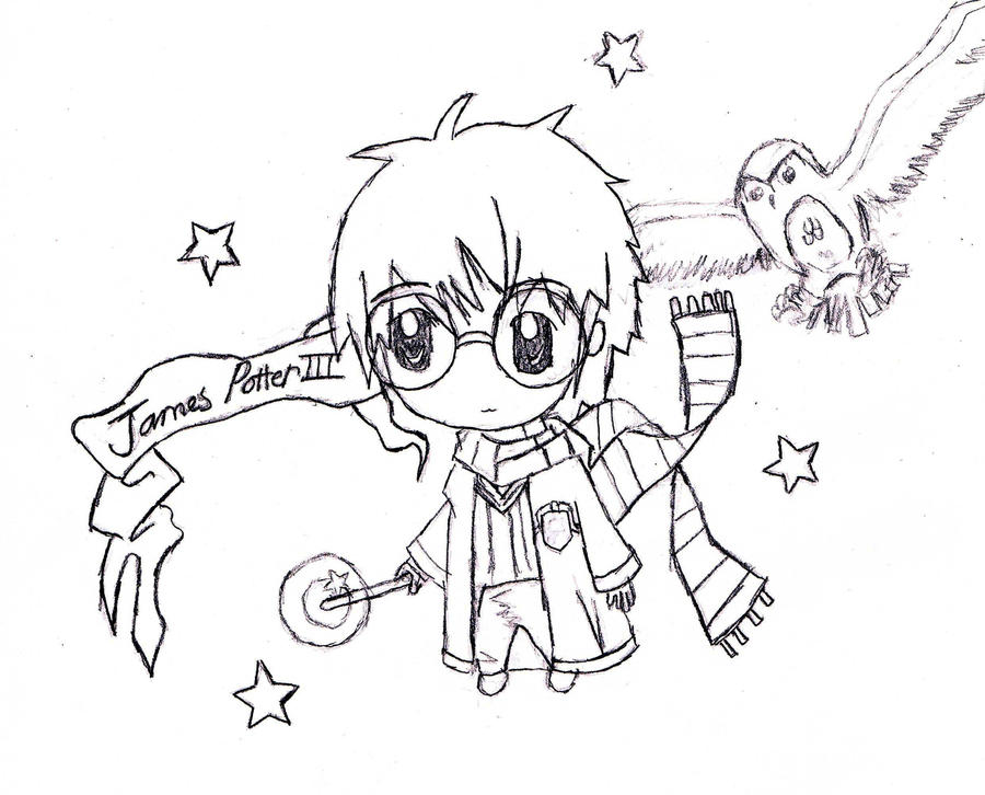 Harry Potter Chibi Coloring Pages