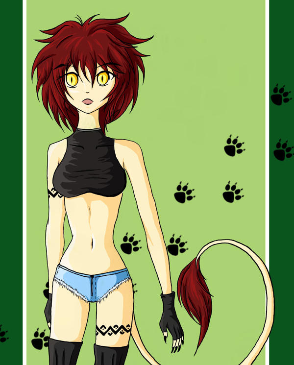 Lioness Coloured by Cute-elf