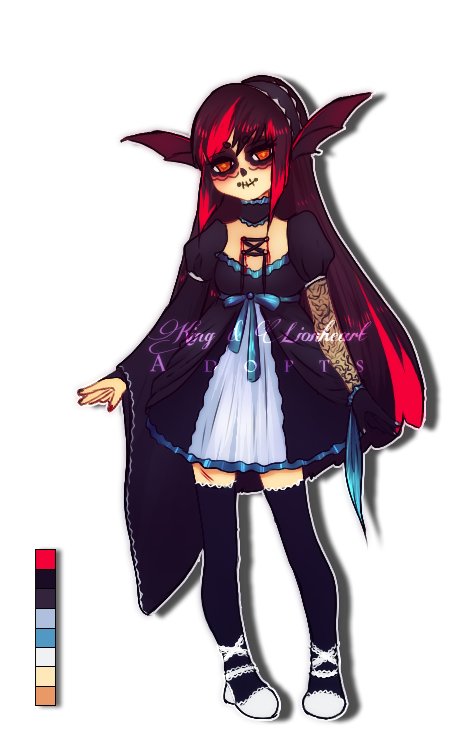 Adoptable Auction #15 { Gothic Lolita } Closed by KingnLionheartAdopts
