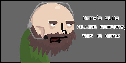 Hanks slug killing company by PixelRevolver