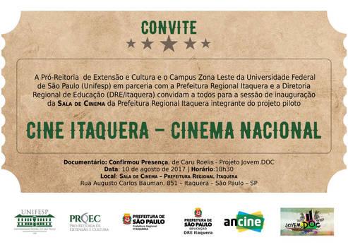 Convite Cine Itaquera UNIFESP