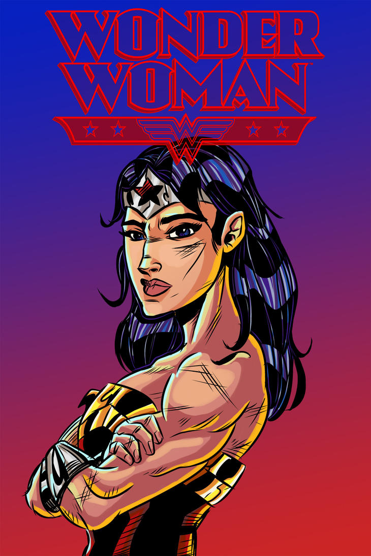 Wonder Woman Colors - Logo by ffnb
