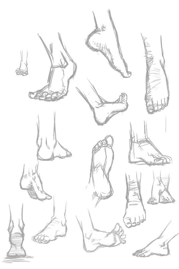 Feet sketches by ffnb