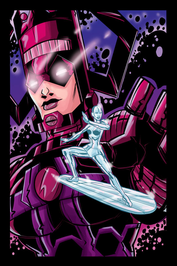 Swaptober: Silver Surfer and Galactus Colored by ffnb