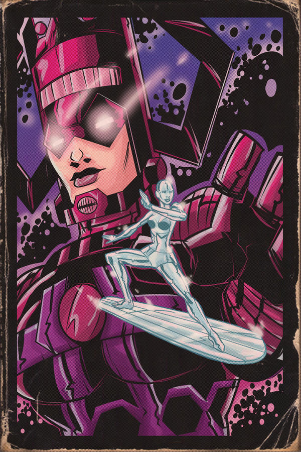 Swaptober: Silver Surfer and Galactus Aged by ffnb