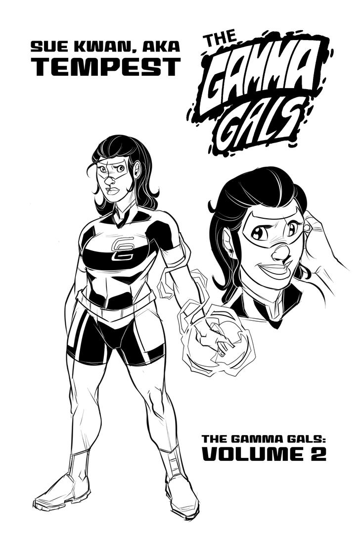 The Gamma Gals Vol.2 Tempest Redesign by ffnb