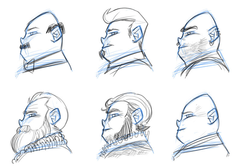 Head Features Exercise by ffnb