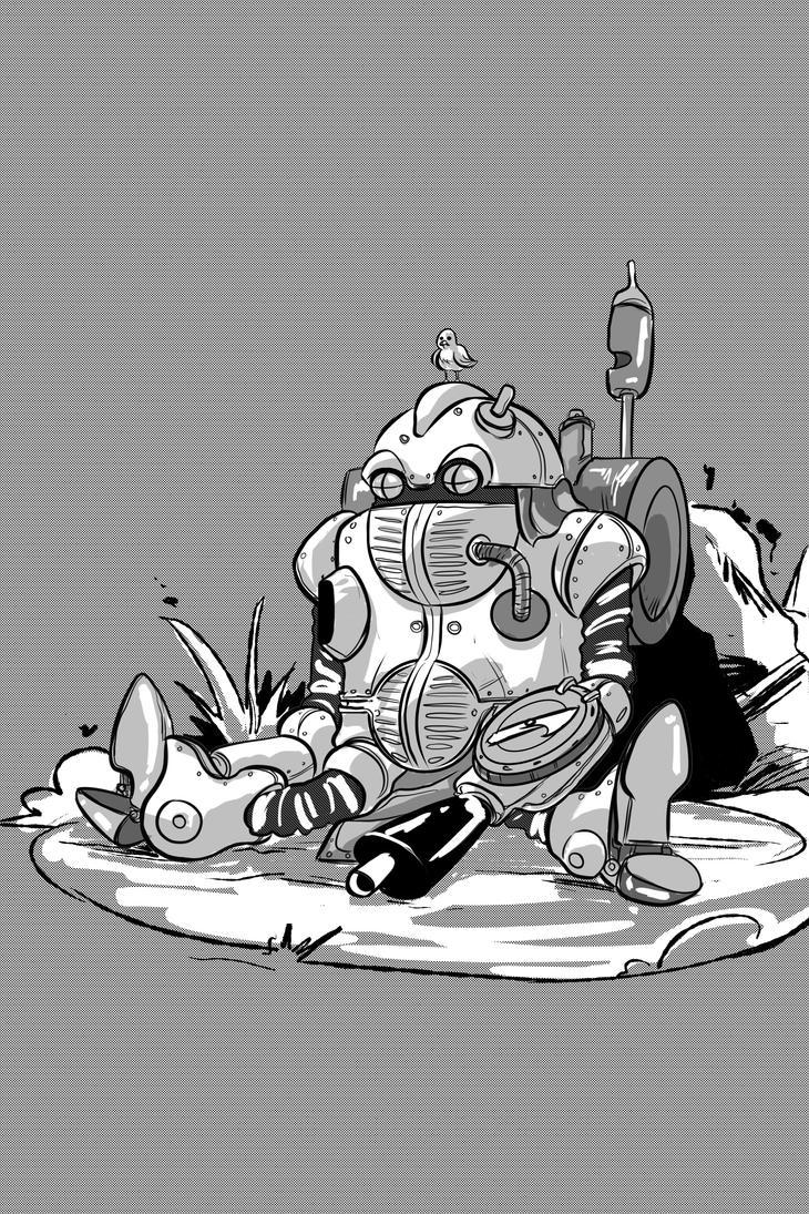 Inktober 2017: Robo - Chrono Trigger by ffnb