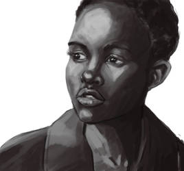 Value Study: Lupita by ffnb