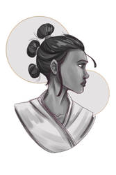 Star Wars: Rey - Rey Sketch - G