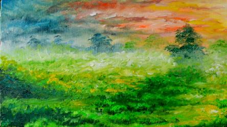 Aftrnoon Landscape by beejay-artlife12