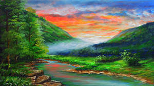 Mountain River by beejay-artlife12