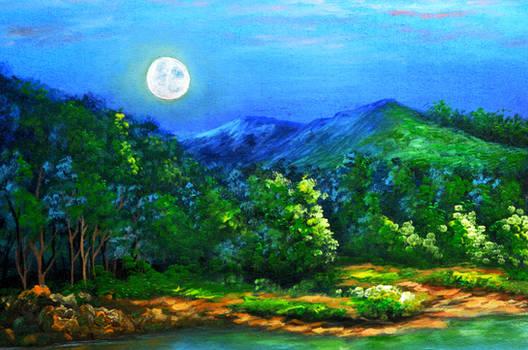 Moonset During Sunrise