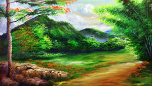 THE MOUNTAINSIDE ROAD by beejay-artlife12